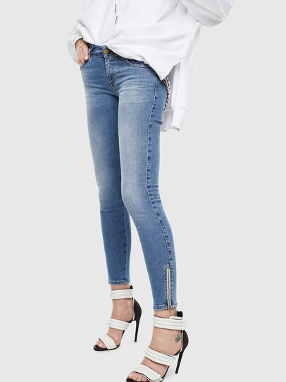 Diesel - Slandy Low 0095B, Light Blue - Jeans - Image 4