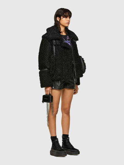 Diesel - L-EYRE, Black - Leather jackets - Image 6