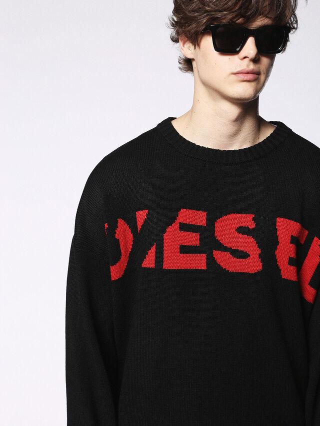 Diesel - DL0250, Bright Black - Eyewear - Image 5