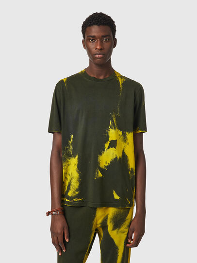 Diesel - T-JUST-B84, Green/Yellow - T-Shirts - Image 1