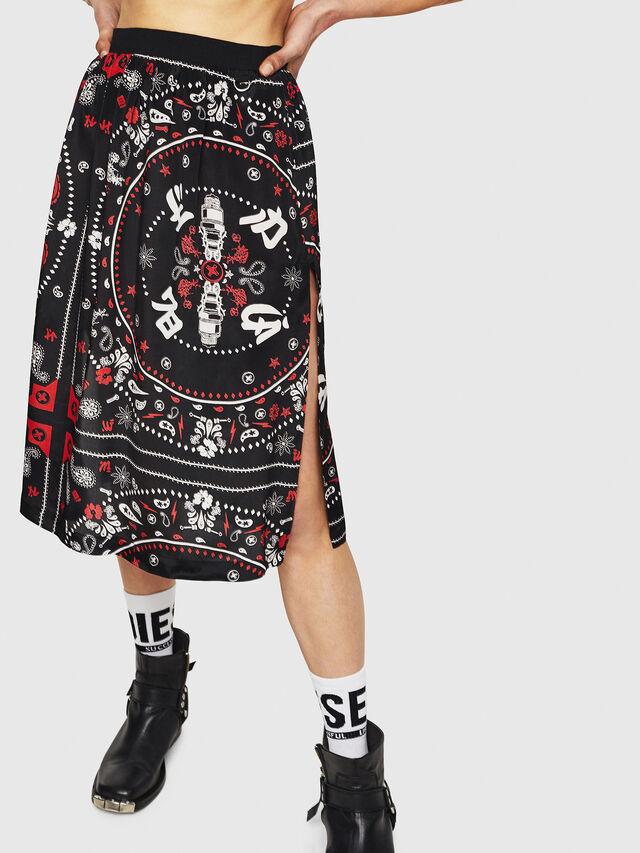 Diesel - O-MIYO-B, Black/Red - Skirts - Image 1