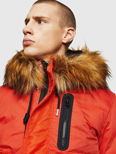 Diesel - W-BURKISK, Orange - Winter Jackets - Image 5