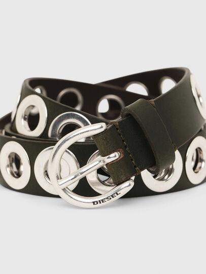 Diesel - B-SPARK, Olive Green - Belts - Image 2