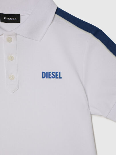 Diesel - TRALFYS1, White/Blue - T-shirts and Tops - Image 3