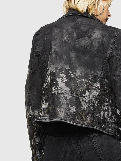 Diesel - KERBIZ-SP JOGGJEANS, Black/Dark grey - Denim Jackets - Image 5