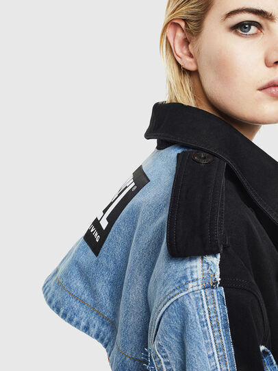 Diesel - DE-PRAVU, Black/Blue - Denim Jackets - Image 3