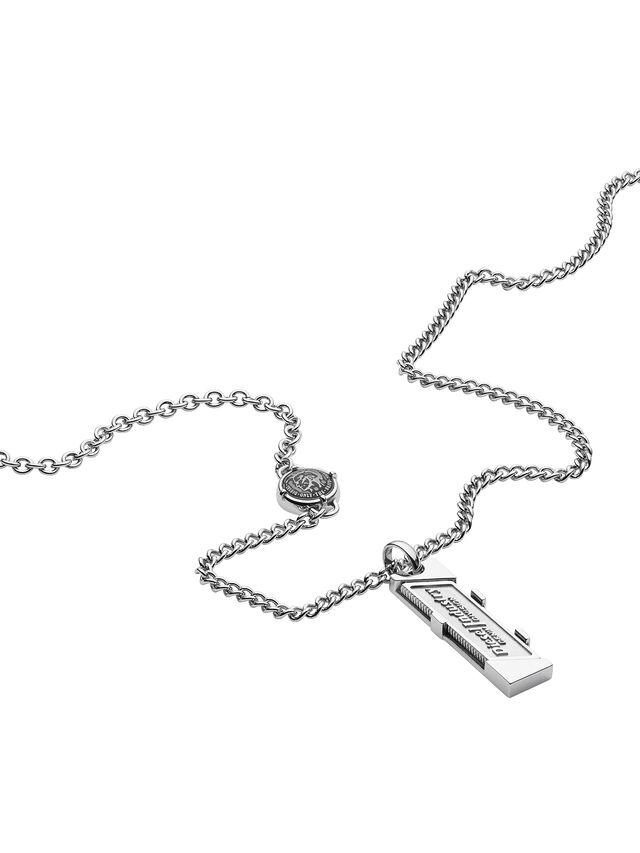Diesel - NECKLACE DX1036, Silver - Necklaces - Image 2