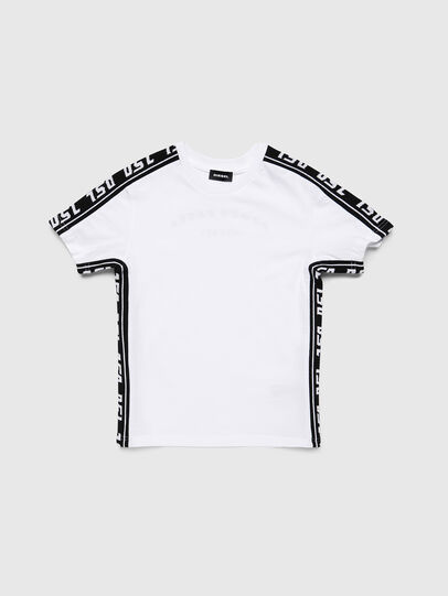 Diesel - TJUSTRACE, White/Black - T-shirts and Tops - Image 1