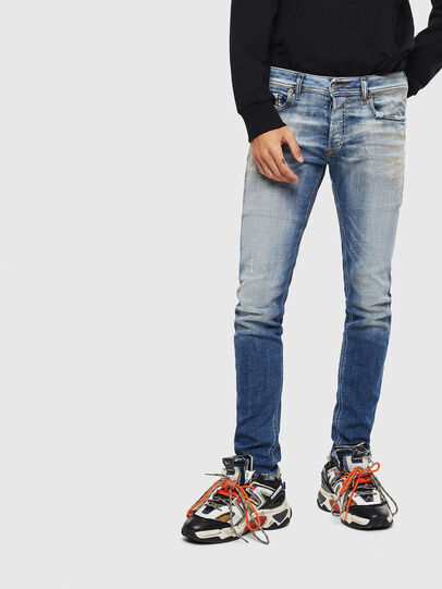 Diesel - Sleenker 009AF, Medium blue - Jeans - Image 1