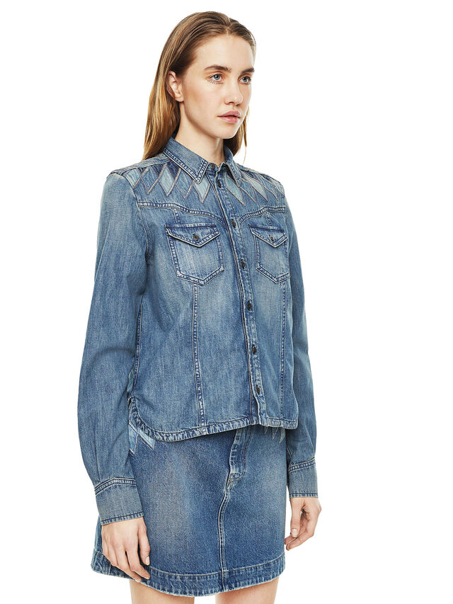 Diesel - CALLYVAN, Blue Jeans - Shirts - Image 5