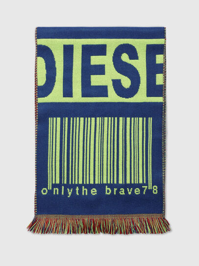 Diesel - S-BARCODE, Blue/Green - Scarf - Image 1