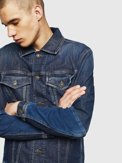 Diesel - D-NHILL-SP JOGGJEANS, Medium blue - Denim Jackets - Image 4