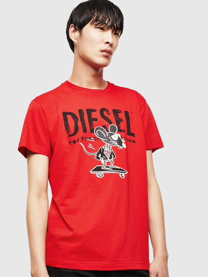 Diesel - CL-T-DIEGO-1, Red - T-Shirts - Image 1