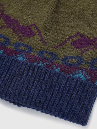Diesel - K-FONTANA, Green/Blue - Knit caps - Image 3