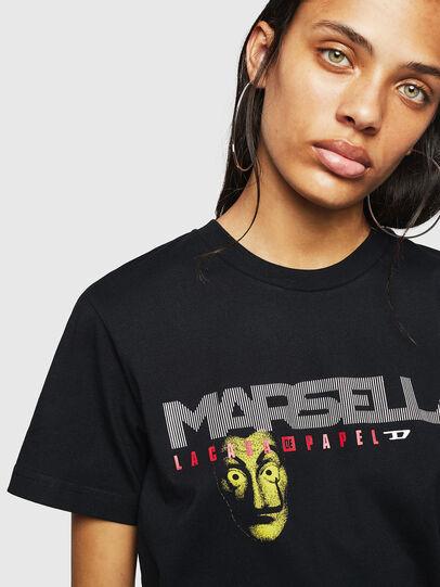 Diesel - LCP-T-DIEGO-MARSELLA, Black - T-Shirts - Image 4