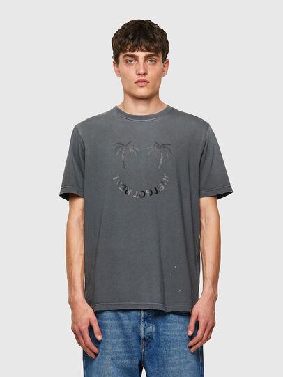 Diesel - T-JUST-B64, Grey - T-Shirts - Image 1