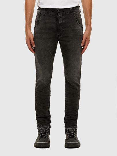 Diesel - KROOLEY JoggJeans® 009FZ, Black/Dark grey - Jeans - Image 1