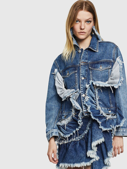 Diesel - DE-ABBY, Medium blue - Denim Jackets - Image 1