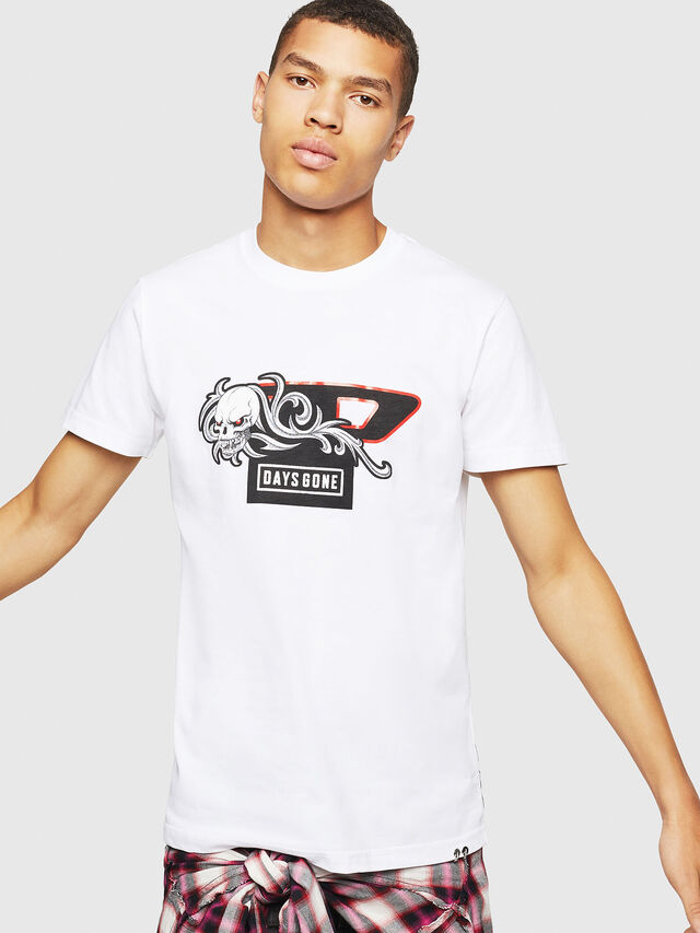 Diesel - PS-T-DIEGO-OCTOSKULL, White - T-Shirts - Image 1