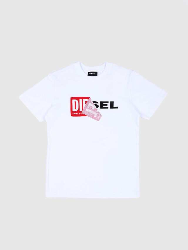 Diesel - TDIEGO, White/Red - T-shirts and Tops - Image 1