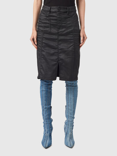 Diesel - D-PAU-SP JOGGJEANS, Black - Skirts - Image 1