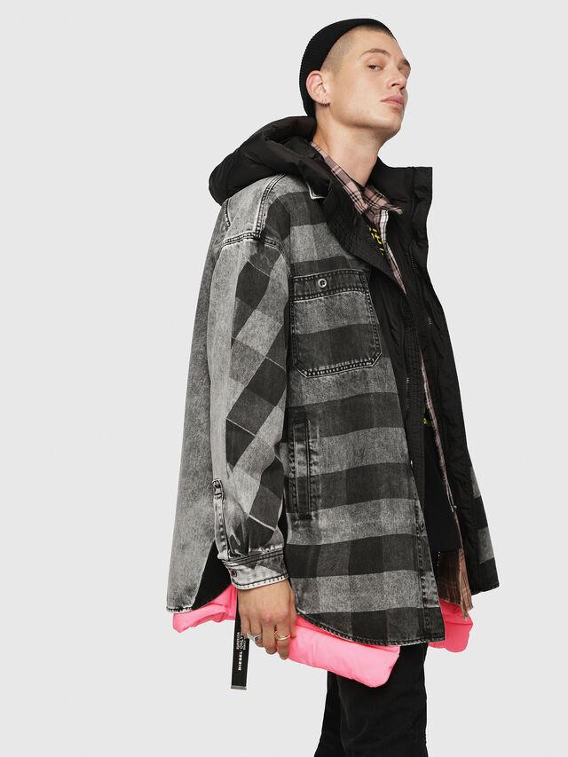 Diesel - D-LOREN, Black/Grey - Denim Jackets - Image 3