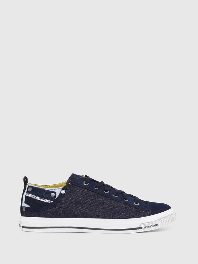 Diesel - EXPOSURE LOW I, Dark Blue - Sneakers - Image 1