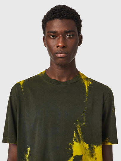 Diesel - T-JUST-B84, Green/Yellow - T-Shirts - Image 2