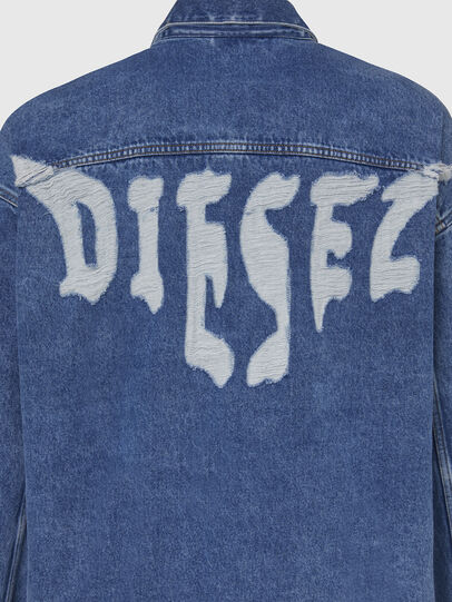 Diesel - D-RAF, Medium blue - Denim Jackets - Image 5
