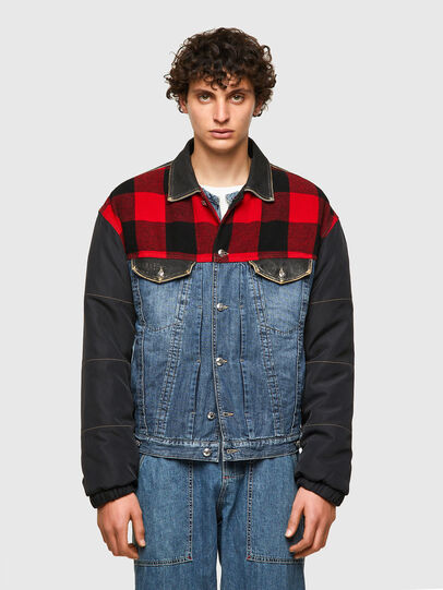 Diesel - DxD-J1, Blue/Black - Denim Jackets - Image 2