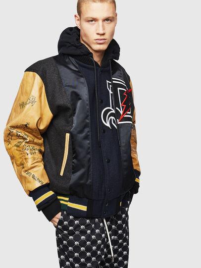Diesel - L-ANTON, Black - Leather jackets - Image 8