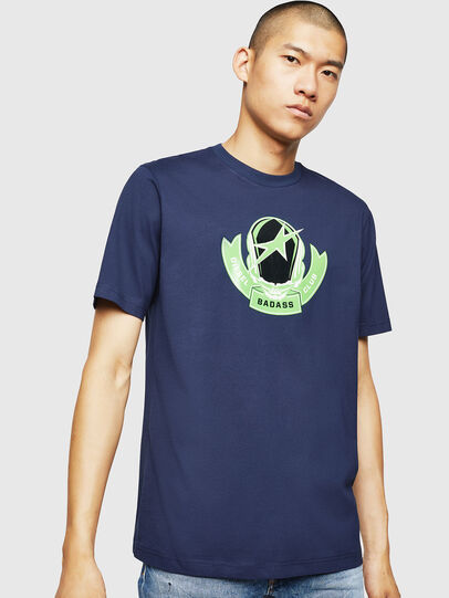 Diesel - T-JUST-B1, Blue - T-Shirts - Image 1