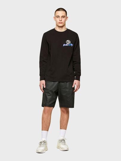 Diesel - T-JUST-LS-E1, Black - T-Shirts - Image 4