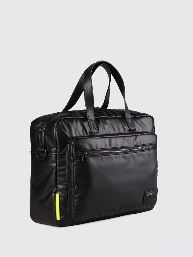 Diesel - F-DISCOVER BRIEFCASE, Black - Briefcases - Image 2