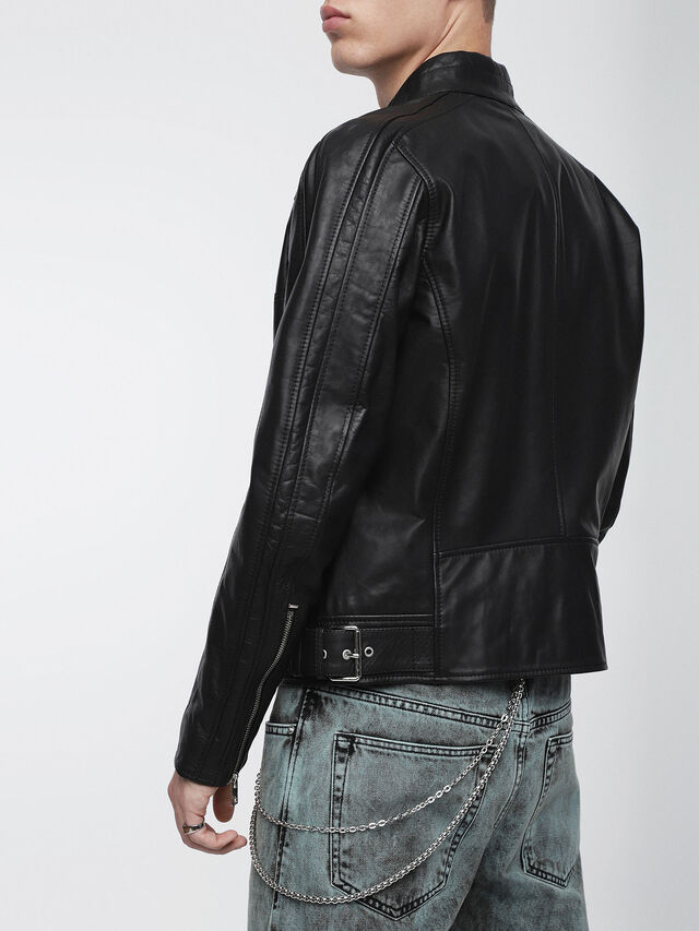Diesel - L-STREET, Black Leather - Leather jackets - Image 2