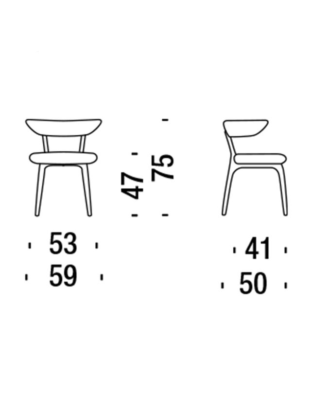 Living DL2H55 SHORTWAVE, Blue - Chairs - Image 2