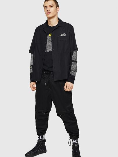 Diesel - T-JUST-LS-NEW, Black - T-Shirts - Image 5