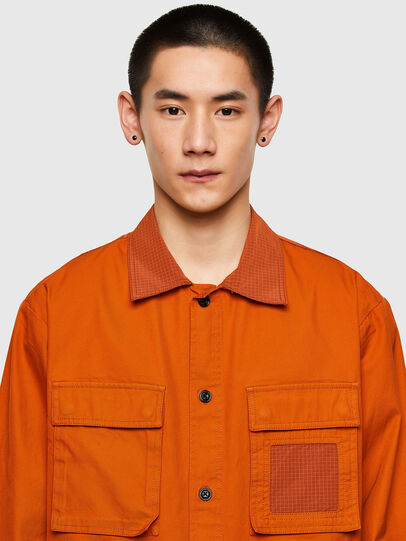 Diesel - S-GUNN-LS, Orange - Shirts - Image 3