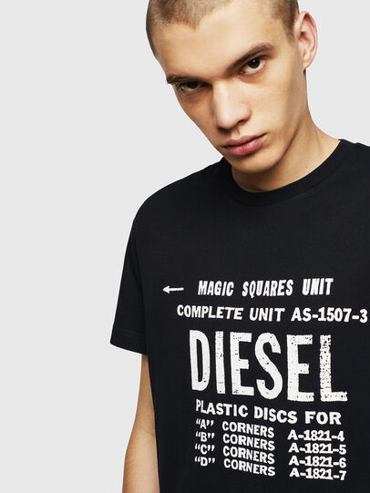 Diesel - T-DIEGO-B6, Black - T-Shirts - Image 3