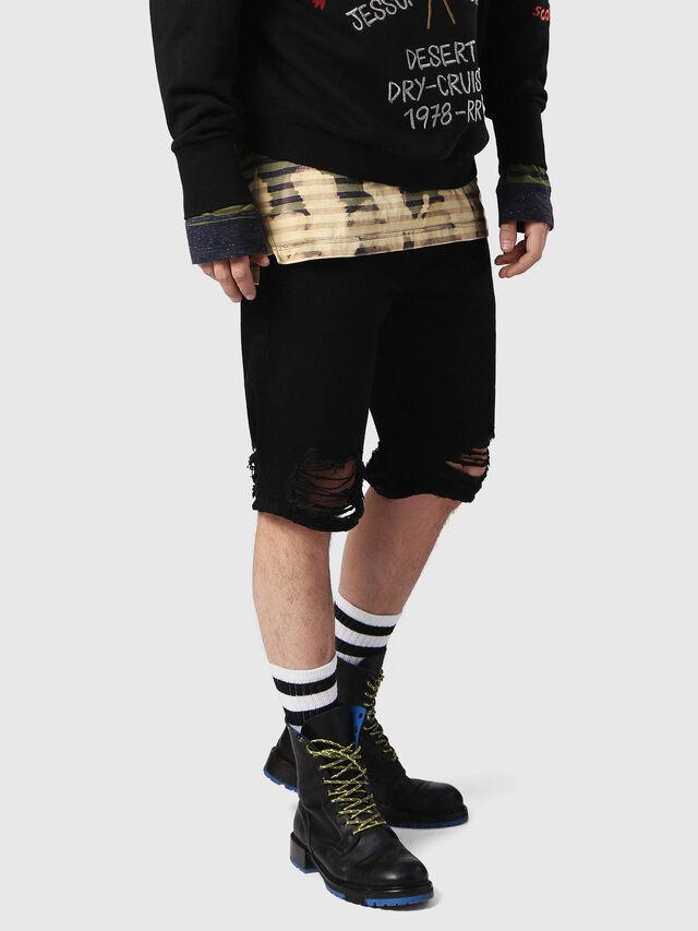 Diesel - THOSHORT, Black Jeans - Shorts - Image 3