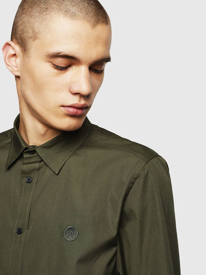 Diesel - S-BILL, Dark Green - Shirts - Image 3