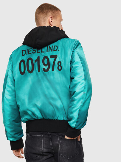 Diesel - J-FOREST, Water Green - Jackets - Image 2
