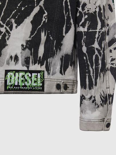 Diesel - NHILL-SP3, Black/White - Denim Jackets - Image 5