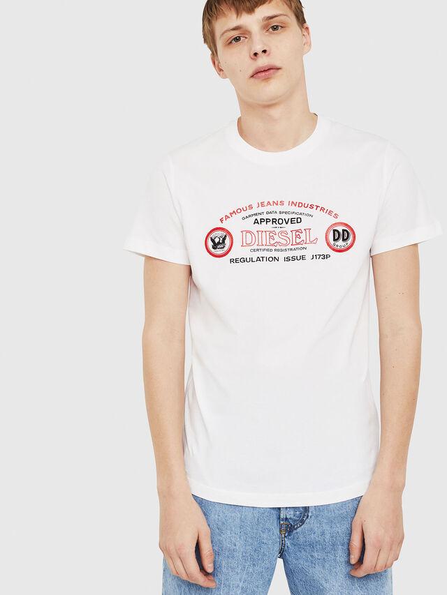 Diesel - T-DIEGO-C4, White - T-Shirts - Image 1