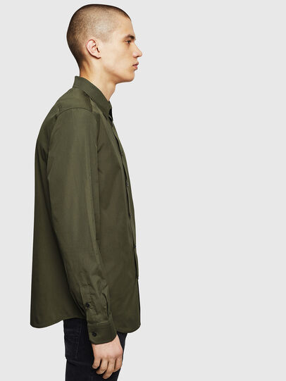 Diesel - S-BILL, Dark Green - Shirts - Image 4