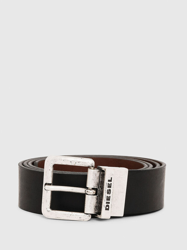 B-DOUCKLE II, Black/Brown - Belts