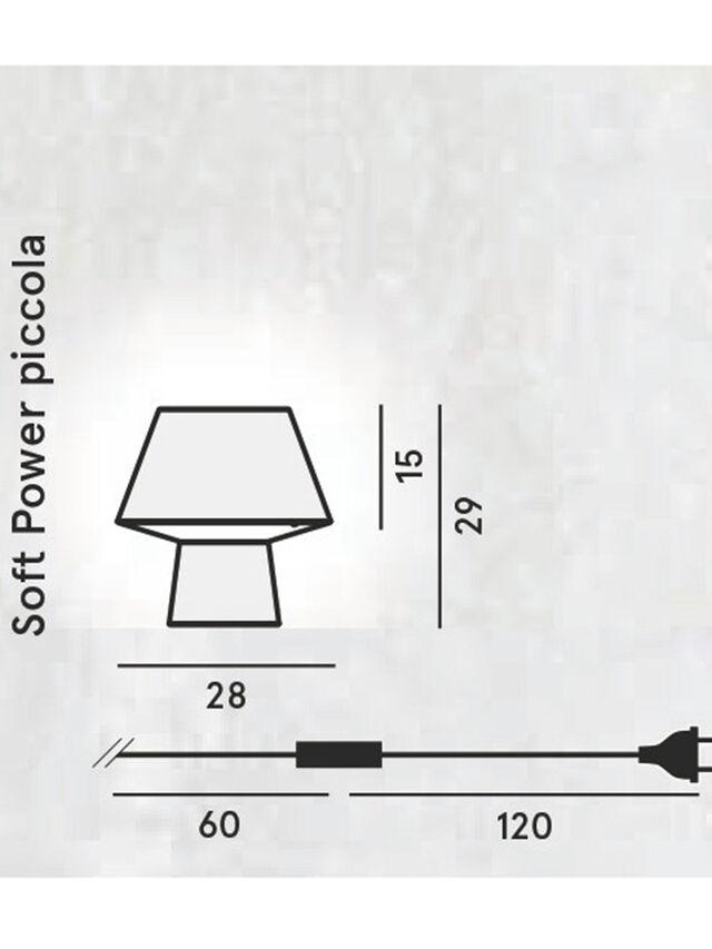 Living SOFT POWER PICCOLA, Black - Table Lighting - Image 2