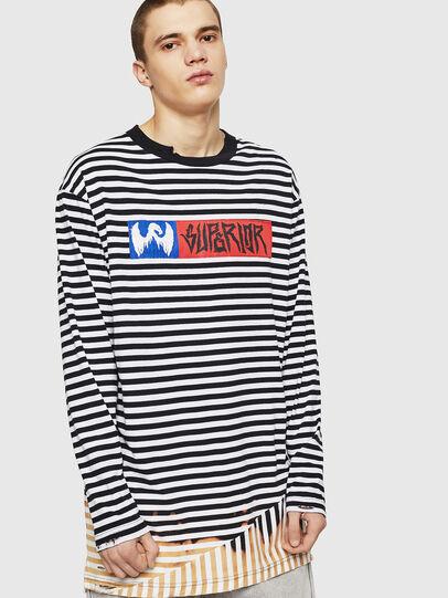 Diesel - T-OKSANA, Black/White - T-Shirts - Image 1