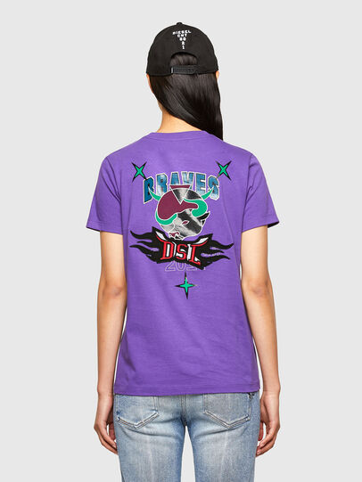 Diesel - CL-T-SILY-O, Violet - T-Shirts - Image 2