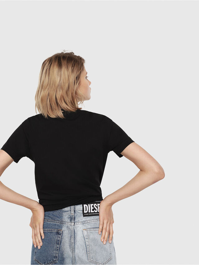 Diesel - T-SILY-C3, Black/Pink - T-Shirts - Image 2